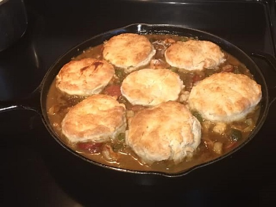 Biscuit Topped Seafood Gumbo