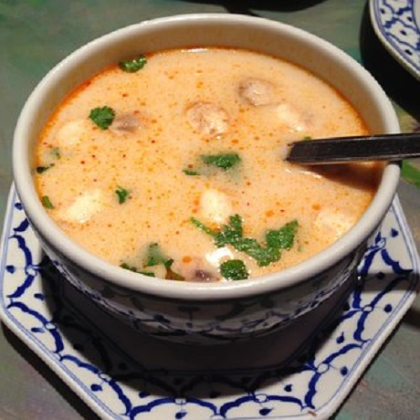 Creole Crawfish and Tasso Chowder Recipe from The Bombay Club restaurant in New Orleans, Louisiana.