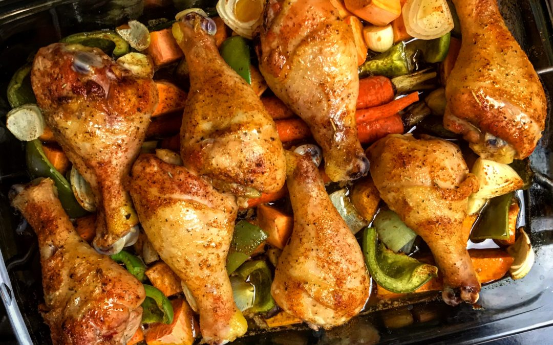 These sweet and spicy chicken legs will for sure be a crowd pleaser. A ...