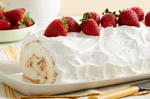This Heavenly Strawberry Roll Cake is sure to be a hit with your ...