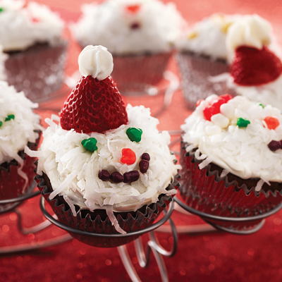 Hot Chocolate Christmas Cupcakes